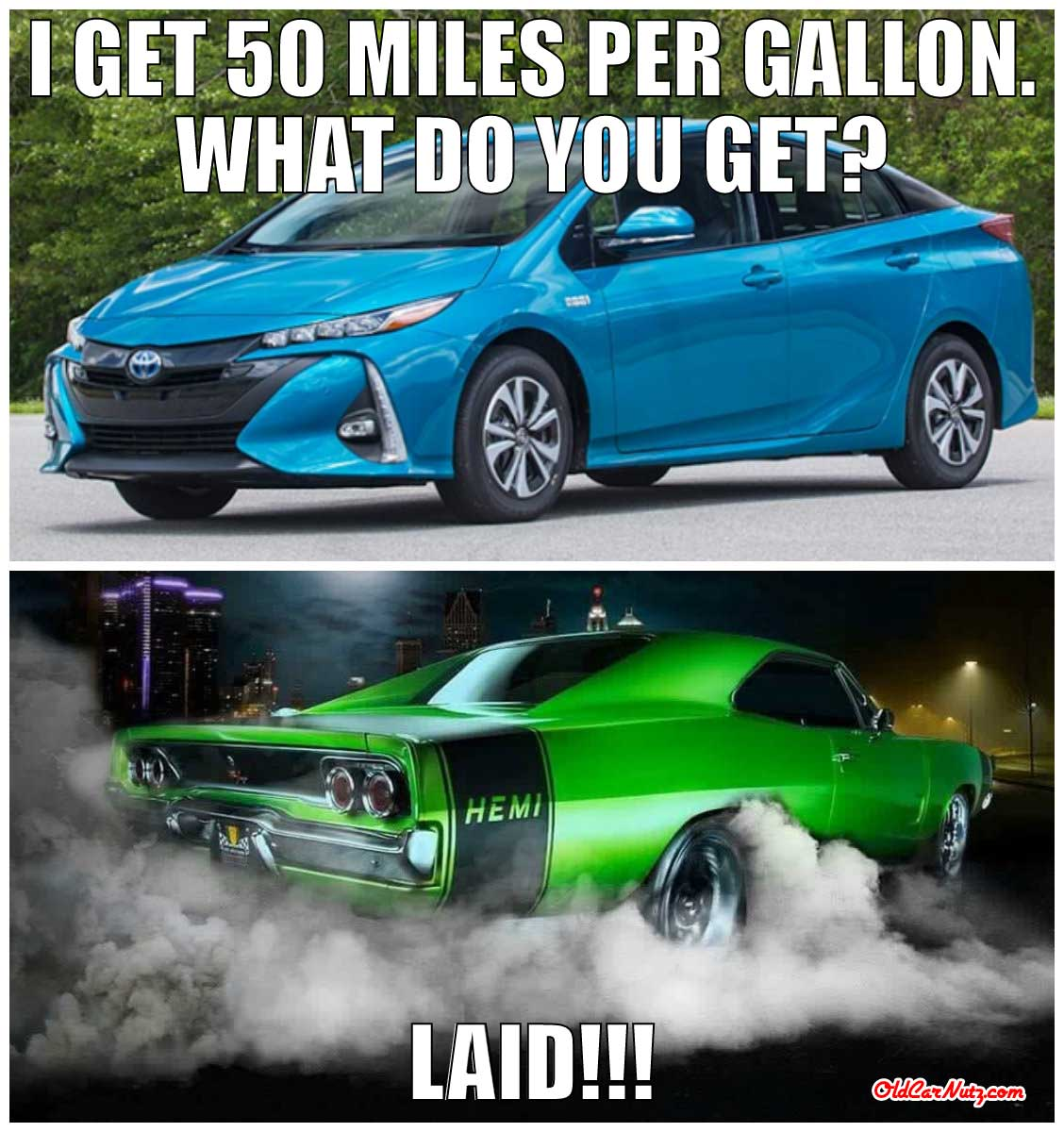 this car gets 50 miles per gallon  what do you get